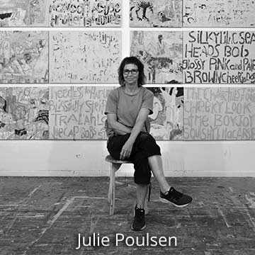 Visual artist, Julie Poulsen in her studio, Australia
