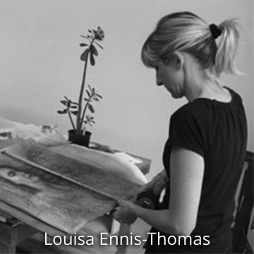 Louisa Ennis-Thomas at work in her artist studio, Australia